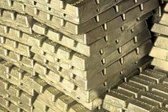 Barras de metal de oro Foto de archivo libre de regalías