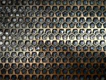 Barras de metal en un fondo gris Imagenes de archivo