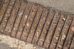 Barras de metal llenadas del suelo Imágenes de archivo libres de regalías