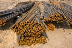 Barras de metal oxidadas en sitio Fotos de archivo libres de regalías