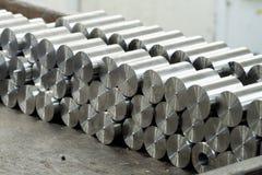 Barras de metal redondas Imagenes de archivo