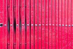 Barras de metal rojas Fotos de archivo