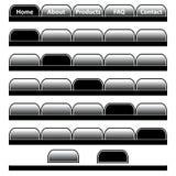 Barras de navegación de los botones del Web fijadas Imagenes de archivo