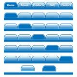 Barras de navegación de los botones del Web fijadas Fotos de archivo libres de regalías