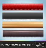 Barras de navegación para el Web y Set1 móvil libre illustration