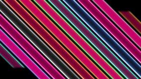 Barras de neón coloridas flashing_LOOP_4K ilustración del vector