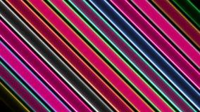 Barras de neón coloridas flashing_LOOP_4K stock de ilustración