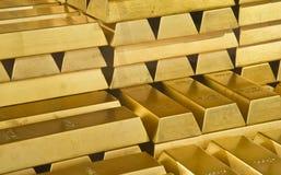 Barras de oro Fotografía de archivo