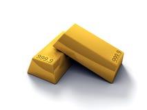 barras de oro 3D Imágenes de archivo libres de regalías
