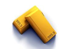 barras de oro 3D Stock de ilustración
