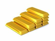 Barras de oro 3d Imagen de archivo