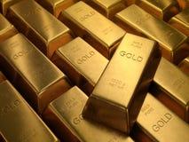 Barras de oro Fotos de archivo libres de regalías