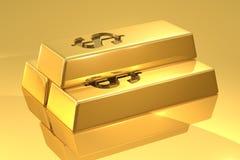 Barras de oro Imágenes de archivo libres de regalías