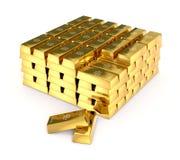 Barras de oro Fotografía de archivo libre de regalías