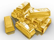 Barras de oro. Fotografía de archivo libre de regalías