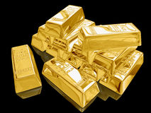 Barras de oro. Imagen de archivo libre de regalías