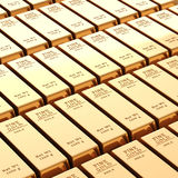 barras de oro 3d Fotografía de archivo libre de regalías