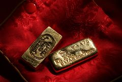 Barras de oro del vintage Fotografía de archivo