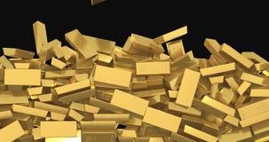 Barras de oro que caen ilustración del vector