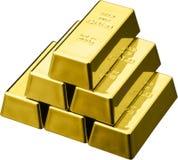 Barras de ouro imagem de stock