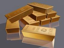 Barras de ouro Imagem de Stock Royalty Free