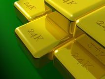 barras de ouro 24K Imagem de Stock