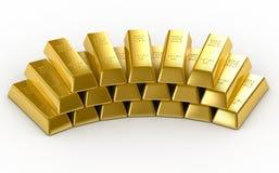 Barras de ouro Imagens de Stock Royalty Free