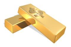 Barras de ouro Foto de Stock Royalty Free