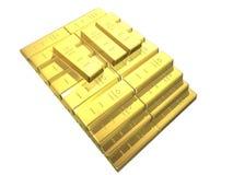 Barras de ouro Fotos de Stock Royalty Free