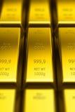 Barras de ouro (com efeito do DOF) Imagem de Stock Royalty Free