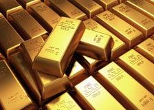 barras de ouro 3d Imagem de Stock Royalty Free
