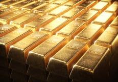 Barras de ouro de 1000 gramas Imagens de Stock
