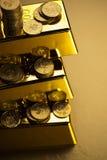 Barras de ouro! Dinheiro e financeiro Imagem de Stock