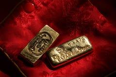 Barras de ouro do vintage Fotografia de Stock