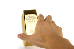 Barras de ouro e conceito financeiro Imagens de Stock Royalty Free