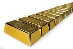 Barras de ouro e conceito financeiro Foto de Stock Royalty Free