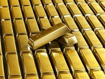 Barras de ouro telhadas ilustração do vetor