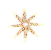 Barras de pan coloridas de la forma de la estrella Imagen de archivo