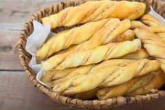 Barras de pan con el penaut Fotos de archivo