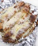 Barras de pan del queso y de ajo Foto de archivo libre de regalías