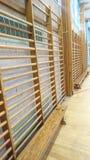 Barras de pared de madera del gimnasio Fotografía de archivo