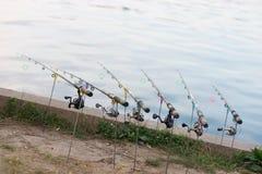 Barras de pesca Imágenes de archivo libres de regalías