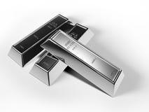 Barras de plata Imágenes de archivo libres de regalías