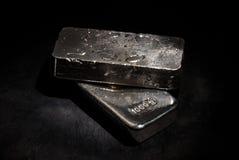 Barras de prata fotografia de stock