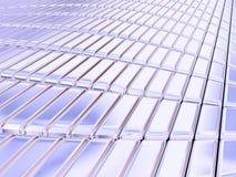 Barras de prata azuis ilustração stock