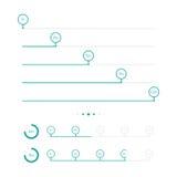 Barras de progreso con el círculo Ilustración del vector Imagen de archivo libre de regalías