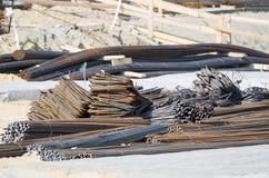 Barras de reforço de aço Fotografia de Stock