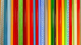 Barras de vidrio coloreadas, mateials para el vidrio que sopla foto de archivo libre de regalías
