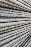 Barras deformadas aço Imagens de Stock