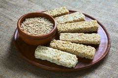 Barras del cereal de la quinoa Fotografía de archivo libre de regalías